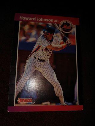 Baseball Card - Howard Johnson 1988