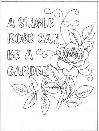 ❀ (New) 8 Word with Flower Coloring Sheets ❀
