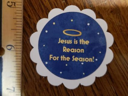 Blue Jesus Is The Reason Christmas Magnet 4