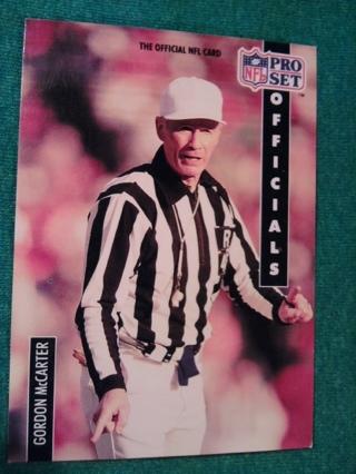 1991 NFL Pro Set Football Trading Card Gordon McCarter