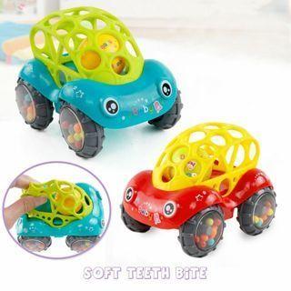 Soft No-toxic Gift Development Hand Bells Teether Toy Rattles Car Newborns Baby
