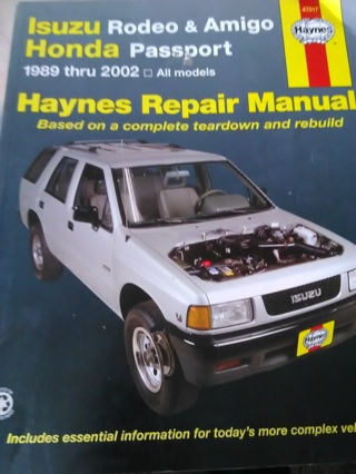 Haynes Manual 47017 Isuzu & Honda1989-2002