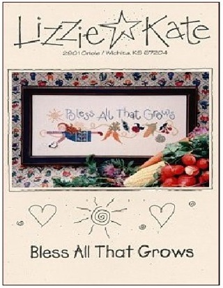 """Lizzie Kate """"Bless All That Grows"""" Cross Stitch Leaflet"""