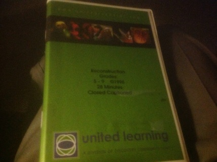 VHS- RECONSTRUCTION by UNITED LEARNING