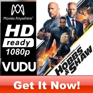 HOBBS AND SHAW HD MOVIES ANYWHERE OR VUDU CODE ONLY