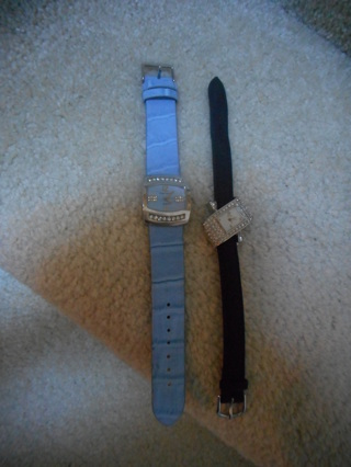 Set of 2 - BLING watches - 1 Black & 1 Blue