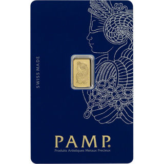 1 gram Gold Bar - PAMP Suisse Lady Fortuna .9999 Fine (In Assay from Pamp Suisse)