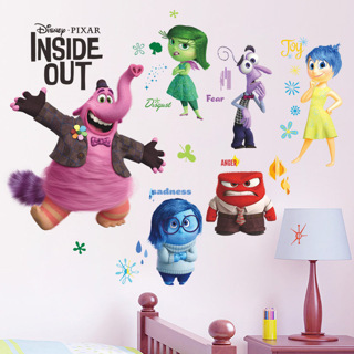 Cartoon Inside Out Wall Stickers For Kids Rooms Wall Decals Anger Fear Sadness Joy Disgust Bingbong