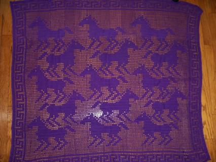 Free Horse Mania Filet Crochet Horse Pattern Only Crochet