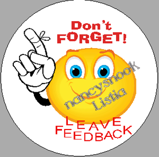 """Sheet of 24 Circle Stickers """"Don't Forget, Leave Feedback"""" - peel and stick"""