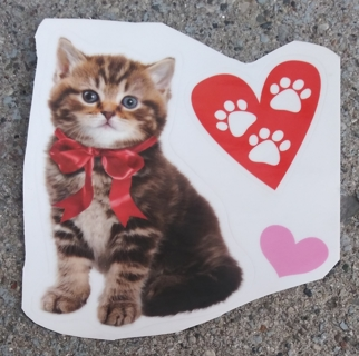 VALENTINES CATS AND DOGS WINDOW CLINGS LOT 1