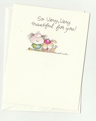 Thankful for you Card Unused With Envelope