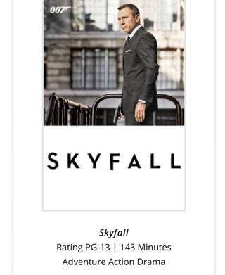 007 Skyfall Digital for iTunes xml redemption only