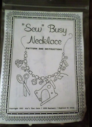 "NIP ""Sew"" Busy Necklace Kit"