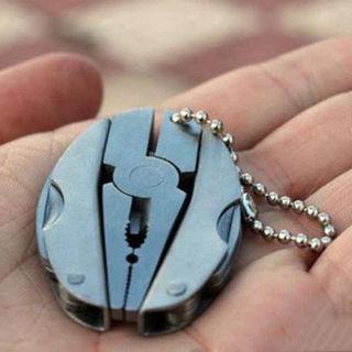 Multi Pocket Pliers Knife Screwdriver Foldaway Keychain Function Tools Set Mini
