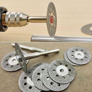 New Practical Rotary Tool Circular Saw Blades Cutting Wheel Discs Mandrel Cutoff