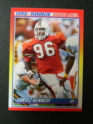 1990 SCORE #299 Cortez Kennedy (96) ROOKIE RC Card Miami Hurricanes DefenseTackle SEATTLE SEAHAWKS *