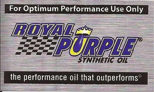 3 Royal Purple Oil Decals
