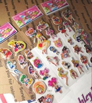 NEW SAILOR MOON STICKERS Puffy Stickers Vibrant Anime Manga FREE SHIPPING