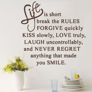 Life Is Short Love Removable Decal Home Art Vinyl Decor Quote