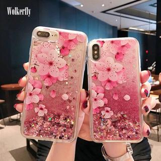 Glitter Liquid Pink Quicksand Case for Samsung Galaxy A7 A750 A6 A8 S8 S9 Plus J4 J6 2018 S7Edge A