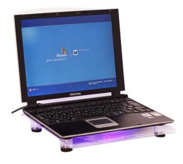 """1 USB Cooler Fan Cooling Pad Blue LED Light for Notebook Laptop 14.1""""-15.4"""" FREE SHIPPING"""