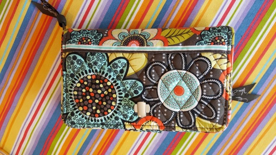 663f120bc FREE: Vera Bradley Turn Lock Wallet Clutch Retired Pattern Flower Shower