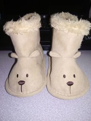 NEW Infant Boys Soft Sole Teddy Boots
