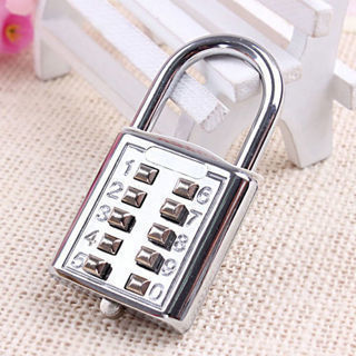 8 Digit Combination Code Padlock Travel Suitcase Luggage Security Password Lock