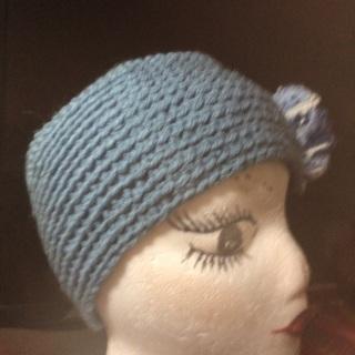 Crocheted Headband/Ear-warmer.