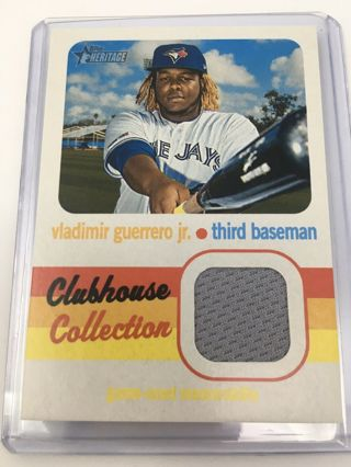 2020 Heritage Vladimir Guerrero Jr. Clubhouse Collection Jersey SP Relic