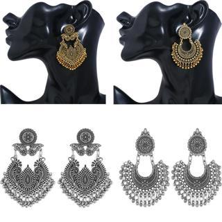 Fashion Women Vintage Jewelry Bohemia Big Tassel Drop Dangle Stud Boho Earrings
