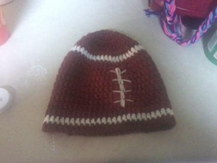 crochet football hat pattern!!!!
