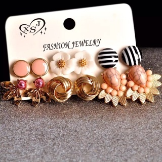 6pairs Earrings ^.^ CUTE CUTE CUTE