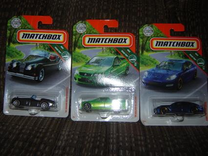 NIP's! 3 Matchbox Cars ~ MBX Road Trip