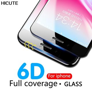 6D 9H HD full coverage tempered glass for iphone 7 8 6s plus screen protector for iPhone 6 8 7 Plus