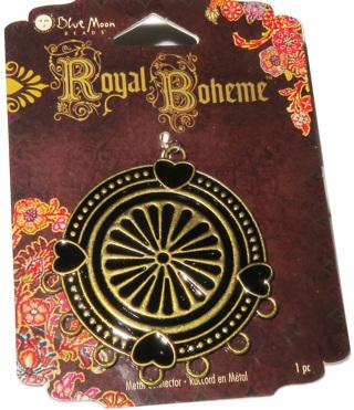 Focal Pendant/ Blue Moon Beads/ Royal Boheme/ Black /Gold/ NIP