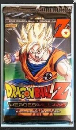 1 NEW PACK Dragon Ball Z Collectible Card Game Heroes Villains Booster Pack Anime Manga DBZ Goku