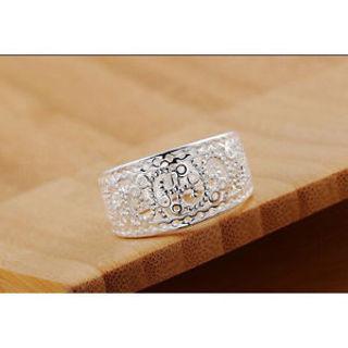 Beautiful Fashion 925 silver plated CUTE Classic Wedding party Women Ring Good