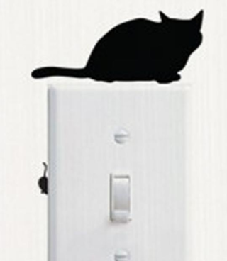 Cat and Mouse Wall Sticker