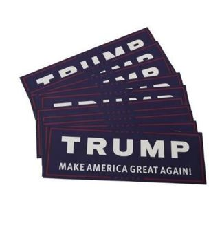 1 NEW Automobile Car Bumper Sticker President Donald Trump Support Sticker America FREE SHIPPING