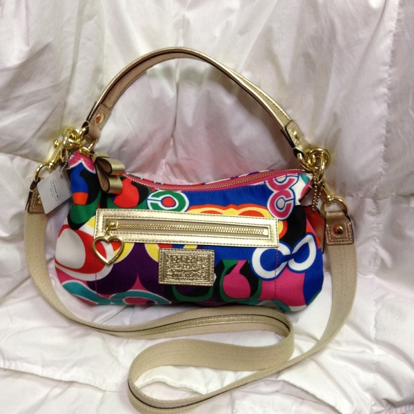Coach Pop C Multi Color Crossbody Shoulder Bag 20039