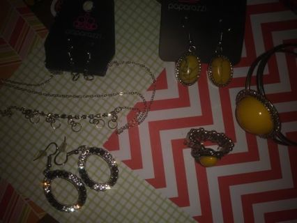 ❇Jewelry lot ❇Yellow And Black -Earrings and Bracelet more to come Read description