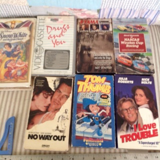7 VHS Movies all to the winners collection.