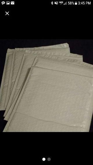 "12 white poly bubble envelopes #2 - 8 1/2"" x 11"""