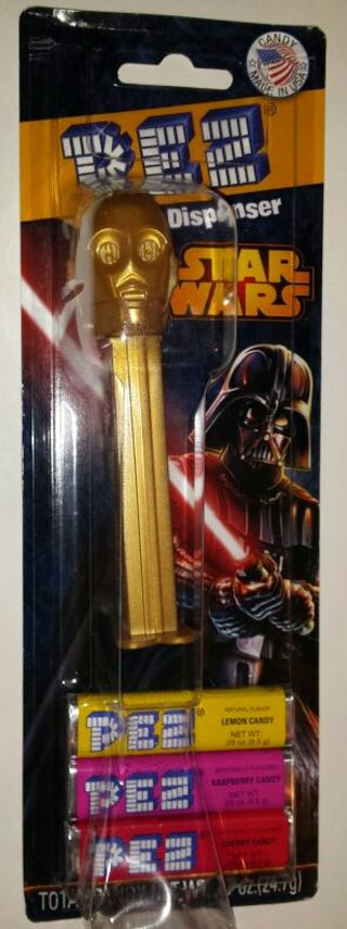 Star Wars C-3PO PEZ dispenser Stocking stuffer! NIP