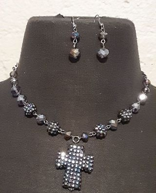 Necklace with matching earrings!