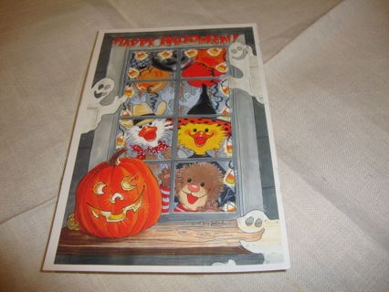 Suzy's Zoo ~ Happy Halloween looking out the window ~ Free Shipping