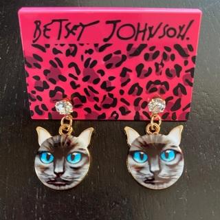 Betsey Johnson Cat Earrings