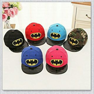 Superman Batman Snapback Cap Cotton Cap Boys and Girls Hip-Hop Kids Baseball Hats